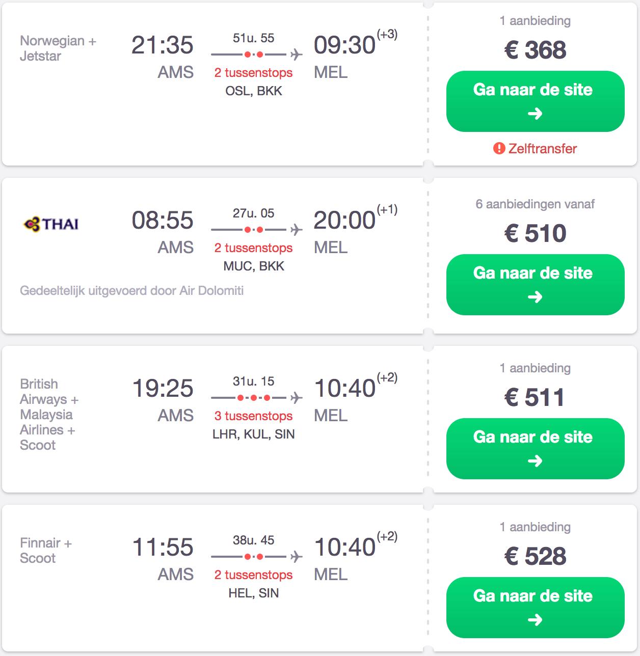 de goedkoopste vliegtickets