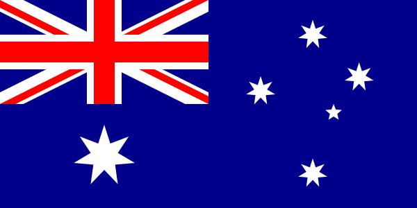 De vlag van Australië